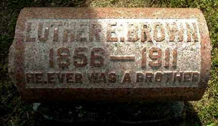 BROWN, LUTHER E - Calhoun County, Michigan | LUTHER E BROWN - Michigan Gravestone Photos