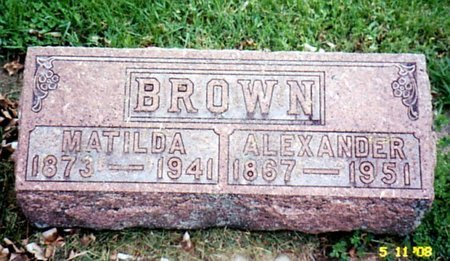 BROWN, MATILDA - Calhoun County, Michigan | MATILDA BROWN - Michigan Gravestone Photos
