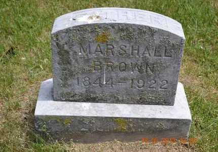 BROWN, MARSHALL - Calhoun County, Michigan | MARSHALL BROWN - Michigan Gravestone Photos