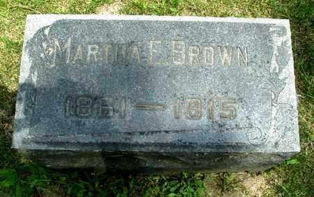 BROWN, MARTHA E. - Calhoun County, Michigan | MARTHA E. BROWN - Michigan Gravestone Photos