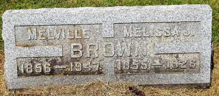 BROWN, MELVILLE - Calhoun County, Michigan | MELVILLE BROWN - Michigan Gravestone Photos