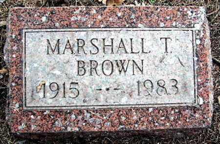 BROWN, MARSHALL T - Calhoun County, Michigan | MARSHALL T BROWN - Michigan Gravestone Photos