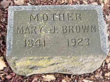 BROWN, MARY J - Calhoun County, Michigan | MARY J BROWN - Michigan Gravestone Photos