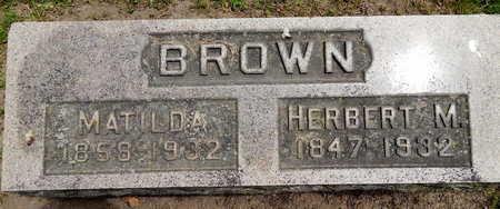 BROWN, HERBERT M - Calhoun County, Michigan | HERBERT M BROWN - Michigan Gravestone Photos