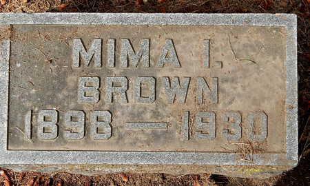 BROWN, MIMA I - Calhoun County, Michigan | MIMA I BROWN - Michigan Gravestone Photos