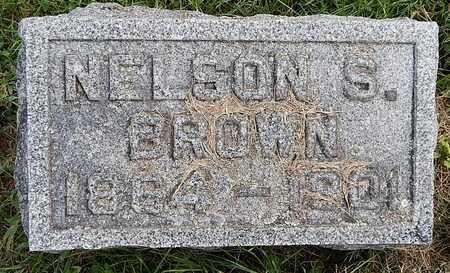 BROWN, NELSON S - Calhoun County, Michigan | NELSON S BROWN - Michigan Gravestone Photos