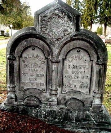 BROWN, LEVINA - Calhoun County, Michigan   LEVINA BROWN - Michigan Gravestone Photos