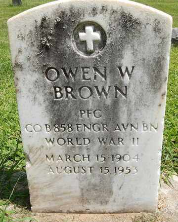 BROWN, OWEN W. - Calhoun County, Michigan | OWEN W. BROWN - Michigan Gravestone Photos