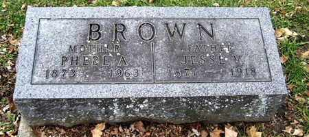 BROWN, PHEBE A - Calhoun County, Michigan | PHEBE A BROWN - Michigan Gravestone Photos