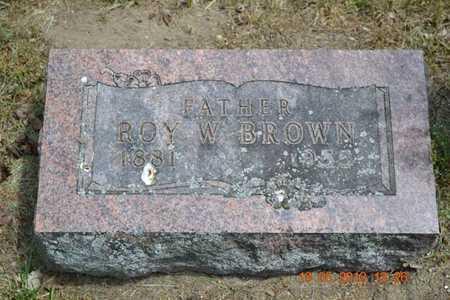 BROWN, ROY W. - Calhoun County, Michigan | ROY W. BROWN - Michigan Gravestone Photos