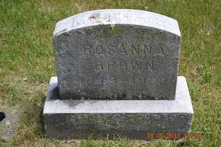 BROWN, ROSANNA - Calhoun County, Michigan | ROSANNA BROWN - Michigan Gravestone Photos