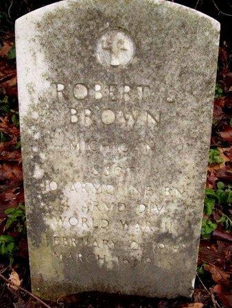 BROWN, ROBERT - Calhoun County, Michigan   ROBERT BROWN - Michigan Gravestone Photos