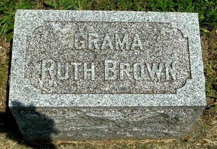 BROWN, RUTH - Calhoun County, Michigan | RUTH BROWN - Michigan Gravestone Photos