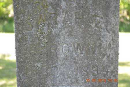 BROWN, SARAH E. - Calhoun County, Michigan | SARAH E. BROWN - Michigan Gravestone Photos