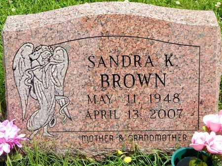 BROWN, SANDRA K. - Calhoun County, Michigan   SANDRA K. BROWN - Michigan Gravestone Photos