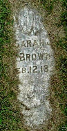 BROWN, SARAH J - Calhoun County, Michigan | SARAH J BROWN - Michigan Gravestone Photos