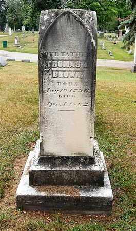 BROWN, THOMAS R. - Calhoun County, Michigan | THOMAS R. BROWN - Michigan Gravestone Photos