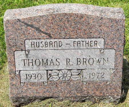 BROWN, THOMAS R. - Calhoun County, Michigan   THOMAS R. BROWN - Michigan Gravestone Photos