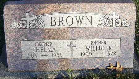 BROWN, WILLIE R - Calhoun County, Michigan | WILLIE R BROWN - Michigan Gravestone Photos