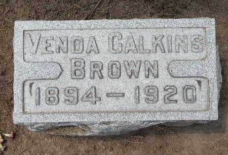 BROWN, VENDA - Calhoun County, Michigan | VENDA BROWN - Michigan Gravestone Photos