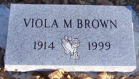 BROWN, VIOLA M - Calhoun County, Michigan | VIOLA M BROWN - Michigan Gravestone Photos