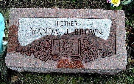 BROWN, WANDA - Calhoun County, Michigan   WANDA BROWN - Michigan Gravestone Photos