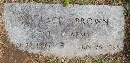 BROWN, WALLACE I - Calhoun County, Michigan   WALLACE I BROWN - Michigan Gravestone Photos