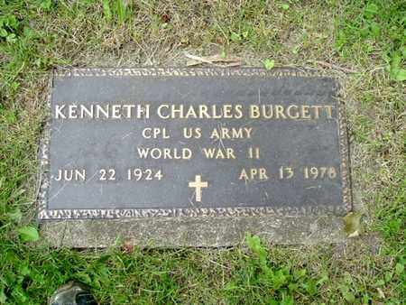 BURGETT, KENNETH CHARLES - Calhoun County, Michigan | KENNETH CHARLES BURGETT - Michigan Gravestone Photos