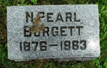 BURGETT, N. PEARL - Calhoun County, Michigan | N. PEARL BURGETT - Michigan Gravestone Photos