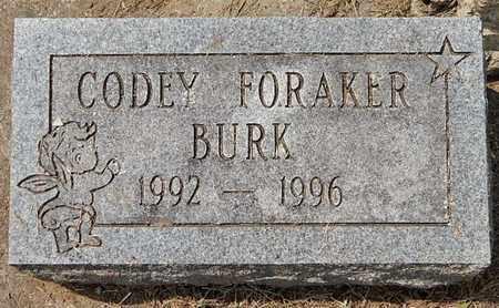 BURK, CODEY FORAKER - Calhoun County, Michigan | CODEY FORAKER BURK - Michigan Gravestone Photos