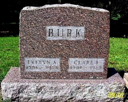 BURK, CLARE - Calhoun County, Michigan | CLARE BURK - Michigan Gravestone Photos