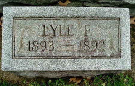 BURK, LYLE F - Calhoun County, Michigan   LYLE F BURK - Michigan Gravestone Photos