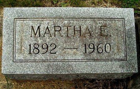 BURK, MARTHA E - Calhoun County, Michigan   MARTHA E BURK - Michigan Gravestone Photos