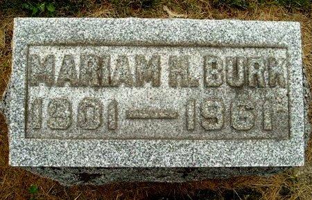 BURK, MARIAM H - Calhoun County, Michigan   MARIAM H BURK - Michigan Gravestone Photos