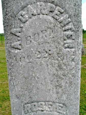 CARPENTER, ALVA (CLOSE UP) - Calhoun County, Michigan | ALVA (CLOSE UP) CARPENTER - Michigan Gravestone Photos