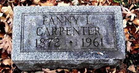 CARPENTER, FANNY L - Calhoun County, Michigan   FANNY L CARPENTER - Michigan Gravestone Photos
