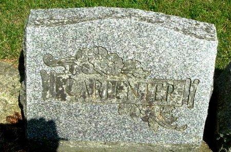 CARPENTER, MARKER - Calhoun County, Michigan   MARKER CARPENTER - Michigan Gravestone Photos