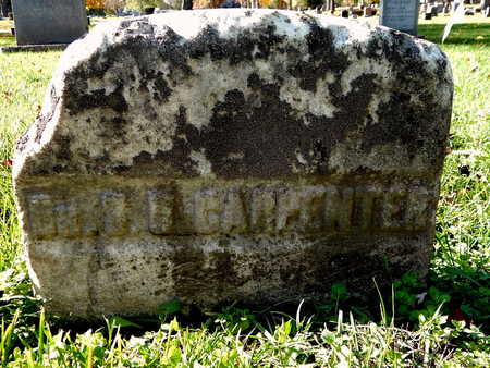 CARPENTER, S. D, DR. - Calhoun County, Michigan   S. D, DR. CARPENTER - Michigan Gravestone Photos