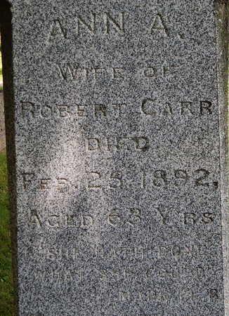 CARR, ANN A - Calhoun County, Michigan   ANN A CARR - Michigan Gravestone Photos