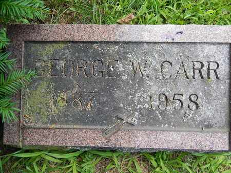 CARR, GEORGE W. - Calhoun County, Michigan | GEORGE W. CARR - Michigan Gravestone Photos
