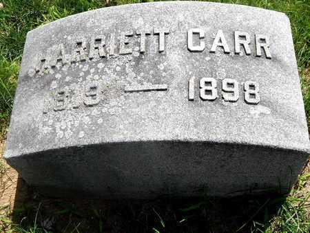 CARR, HARRIETT - Calhoun County, Michigan | HARRIETT CARR - Michigan Gravestone Photos