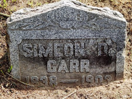 CARR, SIMEON D - Calhoun County, Michigan | SIMEON D CARR - Michigan Gravestone Photos