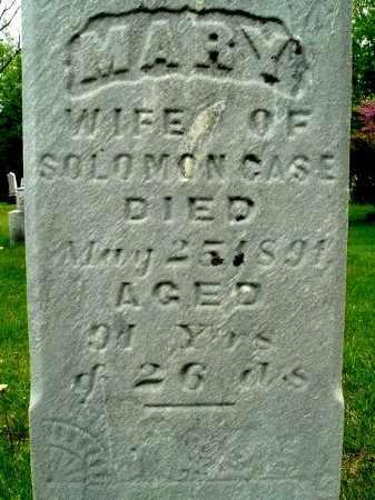 CASE, MARY - Calhoun County, Michigan   MARY CASE - Michigan Gravestone Photos