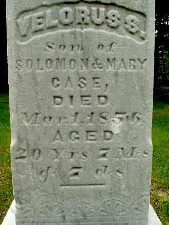 CASE, VELORUS S. - Calhoun County, Michigan | VELORUS S. CASE - Michigan Gravestone Photos