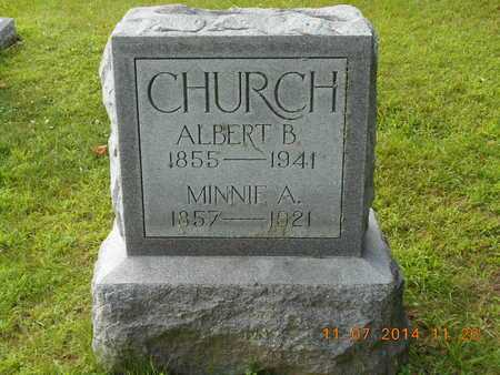 CHURCH, ALBERT B. - Calhoun County, Michigan | ALBERT B. CHURCH - Michigan Gravestone Photos