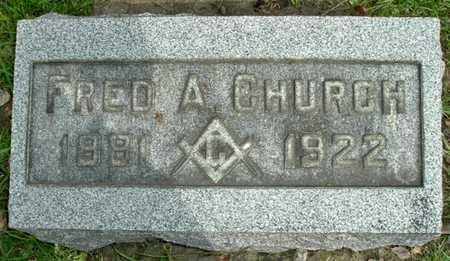CHURCH, FRED A. - Calhoun County, Michigan   FRED A. CHURCH - Michigan Gravestone Photos