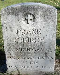CHURCH, FRANK - Calhoun County, Michigan   FRANK CHURCH - Michigan Gravestone Photos