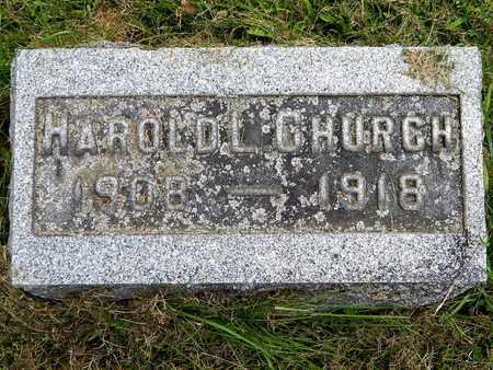 CHURCH, HAROLD L. - Calhoun County, Michigan | HAROLD L. CHURCH - Michigan Gravestone Photos