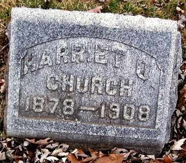 CHURCH, HARRIET O - Calhoun County, Michigan | HARRIET O CHURCH - Michigan Gravestone Photos