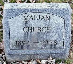 CHURCH, MARIAN R - Calhoun County, Michigan | MARIAN R CHURCH - Michigan Gravestone Photos